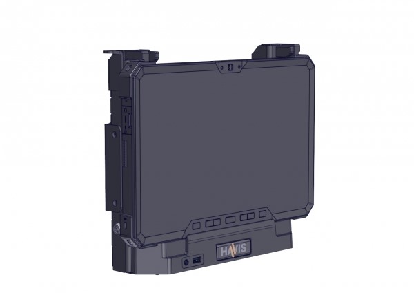 DS-DELL-611-2 Docking station for Dells Latitude 12 Rugged Tablet with dual pass-through antenna (for mobile applications requiring a thinner product option)