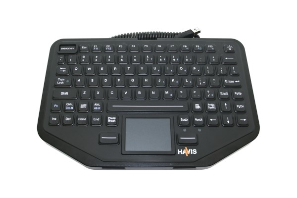 Havis Rugged USB Keyboard with Touchpad