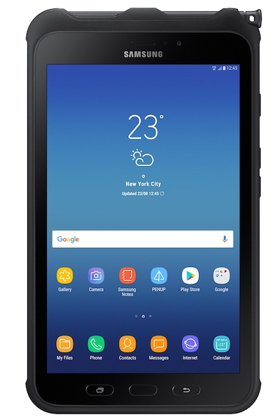 Samsung galaxy tab active2 on white background