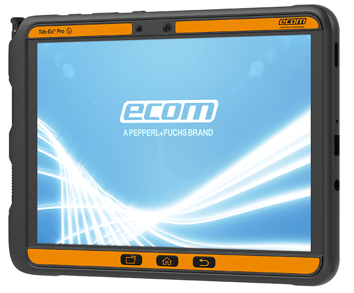 Ecom Tab-Ex Pro site view on white background intrinsically safe android tablet
