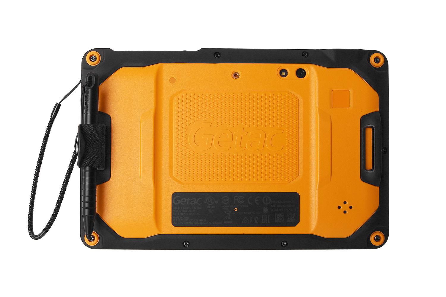 "Fully Rugged Getac ZX70 7"" showcasing its rugged casing"