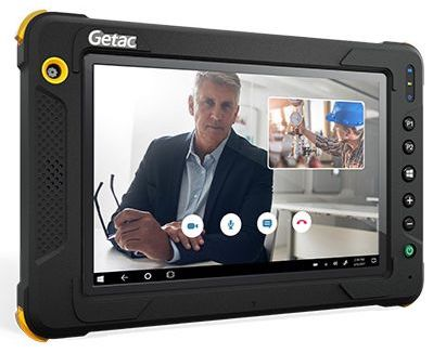 Getac EX80 screen with advanced video capabilities and connectivity