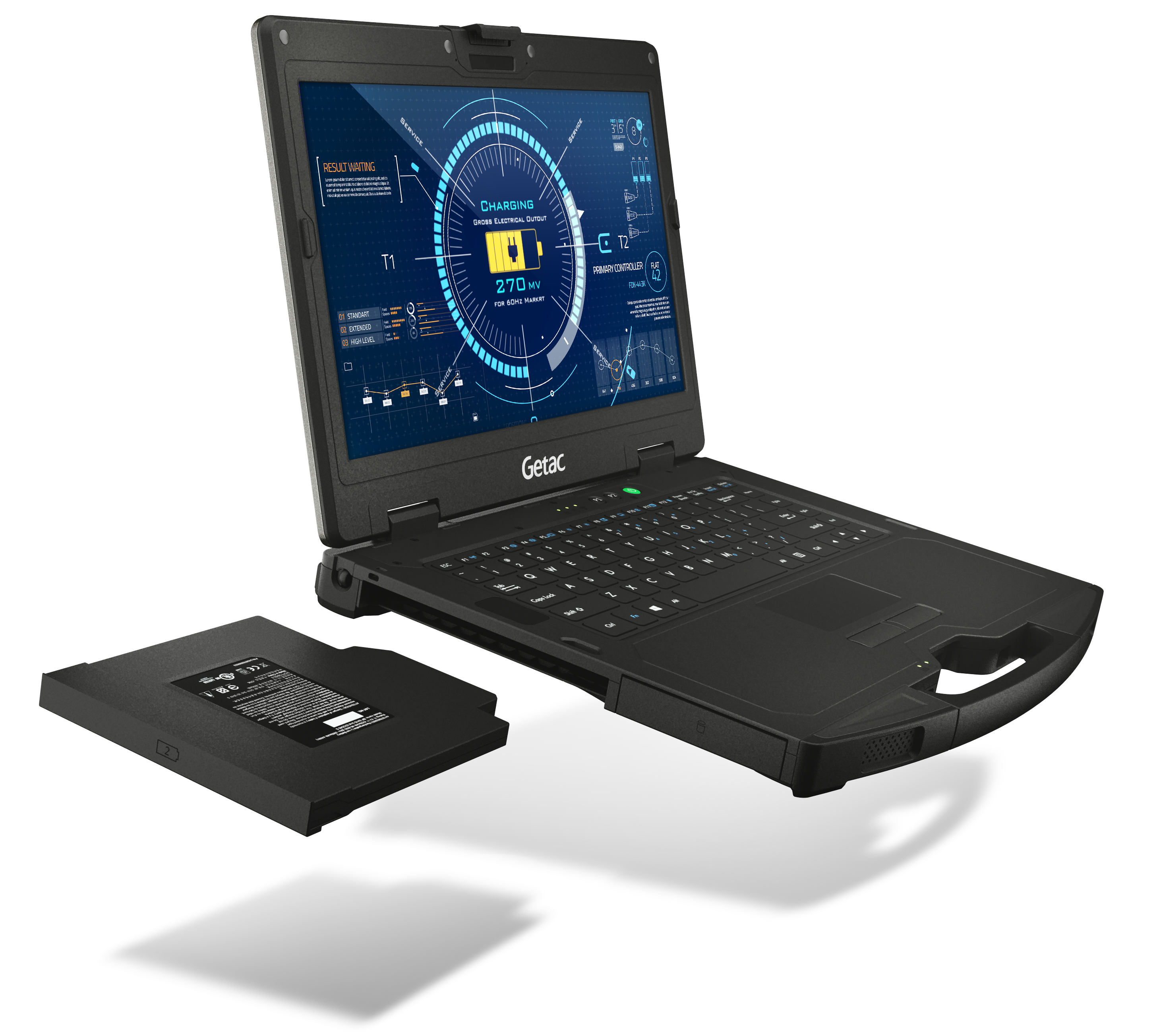 Getac S410 rugged laptop with hot-swappable battery