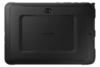 Samsung's galaxy tab active pro back of device on white background